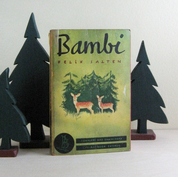 Bambi by Felix Salten - Vintage Illustrated Pocket Book Edition 1940