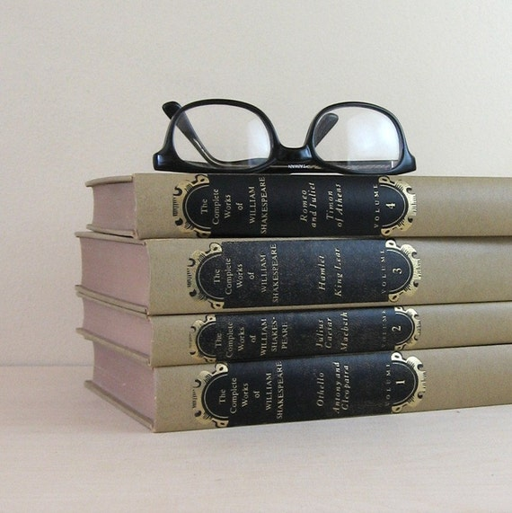 The Complete Works of William Shakespeare - Vintage 1950s Set of Hardcover Books - Instant Collection