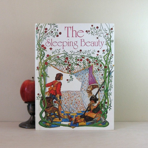 The Sleeping Beauty - 1970s Vintage Childrens Book - Illustrated Large Hardcover