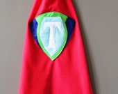 Toddler Boy personalized, red super hero cape
