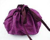 Lotus Birth Placenta Bag - Purple Cotton Lined