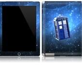 Apple iPad 1 2 Decal Skin Cover  - Tardis Doctor Who Police Call Box
