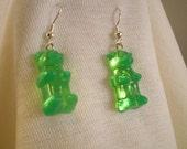 Yummy Green Gummi Bear Earrings