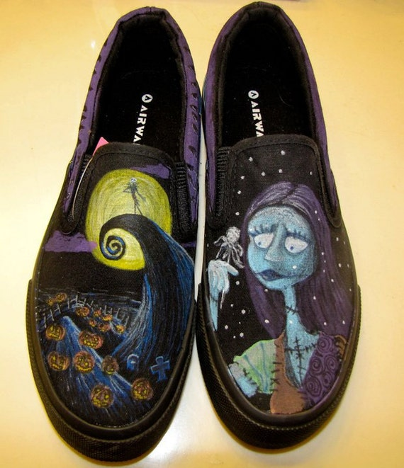 Nightmare Before Christmas Shoes by GearheartFactory on Etsy