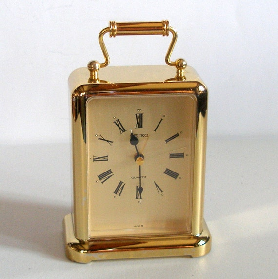 Vintage Seiko Carriage Alarm Clock Retro Model Qej145g