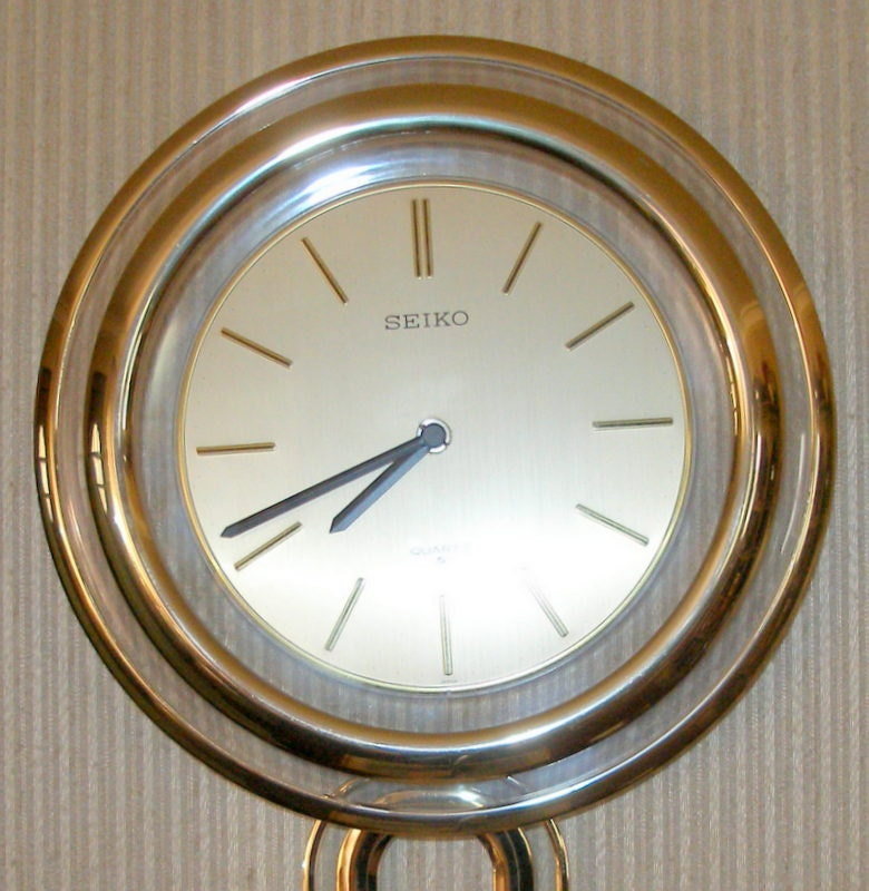 Seiko Gold Wall Clock