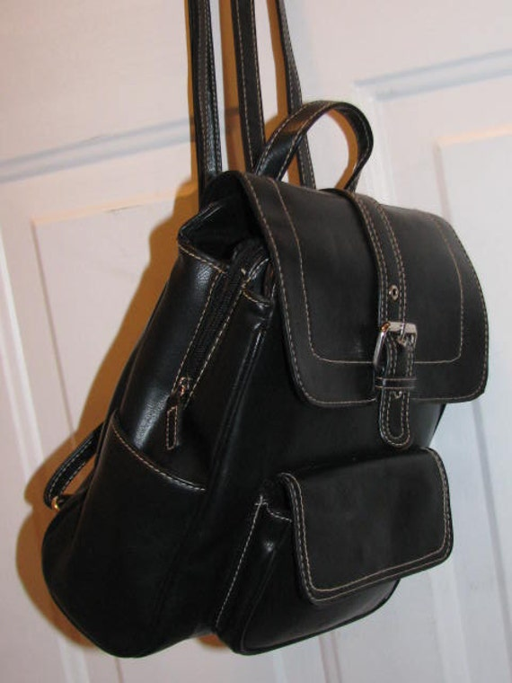 Black Hipster Babies 90's Black Backpack Purse Baby