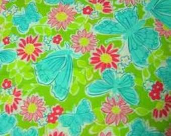 Hidden Garden cotton poplin 14.5 X 18 inches  ~Lilly Pulitzer fabric~