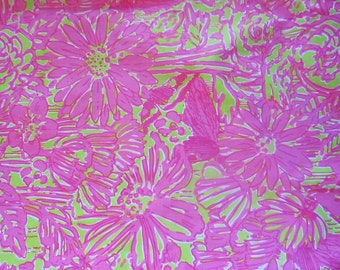 Lilly Pulitzer fabric Secret Garden 18 X 18 inches