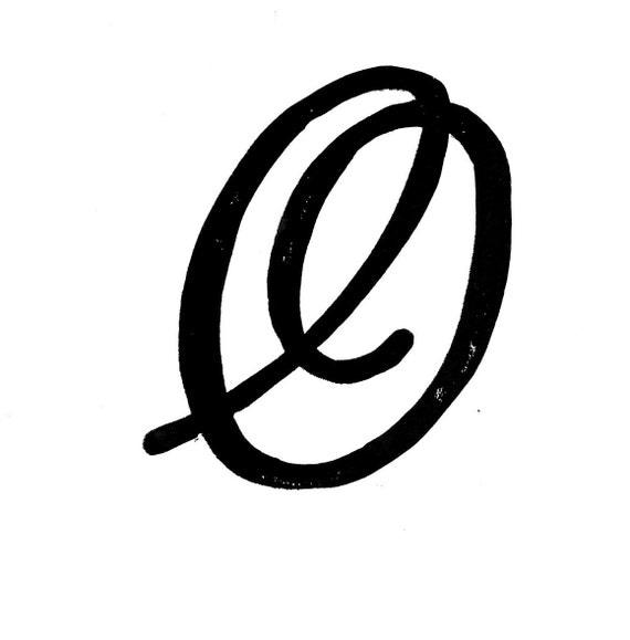 Linocut print letter o monogram decorative by wordsigiveby for Letter o monogram