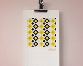 Birthday and anniversary calendar (geometric) - FREE SHIPPING AUS