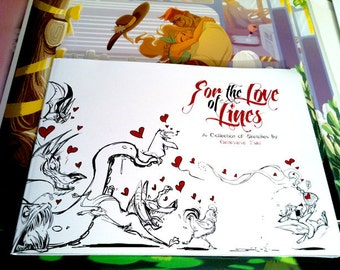 For the Love of Lines: A Collection of Sketches by Genevieve Tsai [SIGNED ONLY]