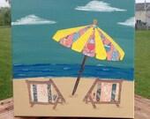 Custom Order for Writes Beach Chairs umbrella DECOUPAGE