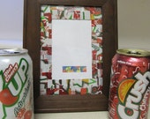 FREE SHIPPING- Recyled soda can frame