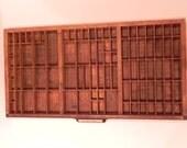 Vintage Letterpress Printer's Drawer Type Case Shadow Box