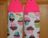 Crocheted Towel Set, Cupcakes