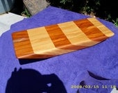 vintage cherrywood, and quarter sawn oak cutting board/sculpture stand.