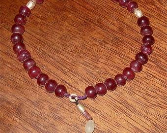 prayer/worry beads tasbih 33  real rubies tanzanite gold tourmaline