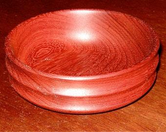 african paduak hand turned bowl