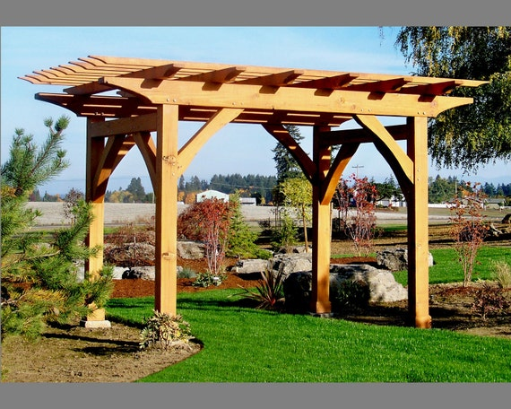 Pergola, Old World, Traditional Joinery, Mortise & Tenon, Western Red Cedar, Handcrafted, Timber Framed.