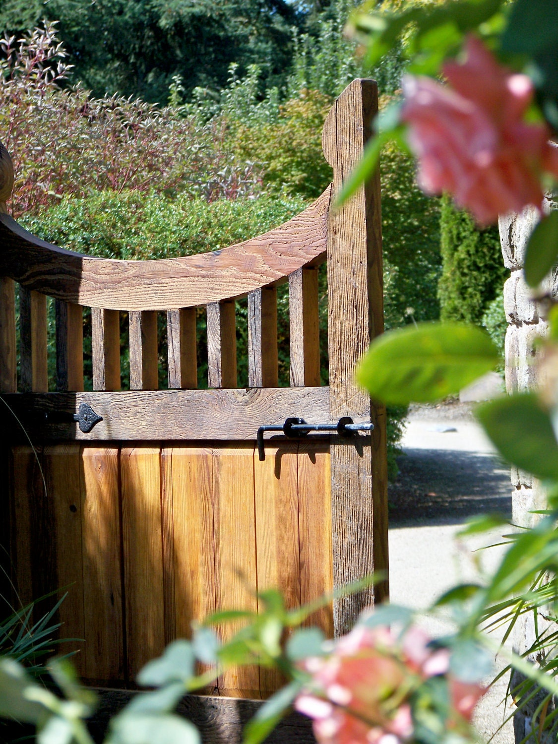 Reclaimed Wood Gate Garden Entry French Garden Traditional