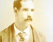 Victorian Photograph - Handsome Victorian / Edwardian Man Cabinet Card