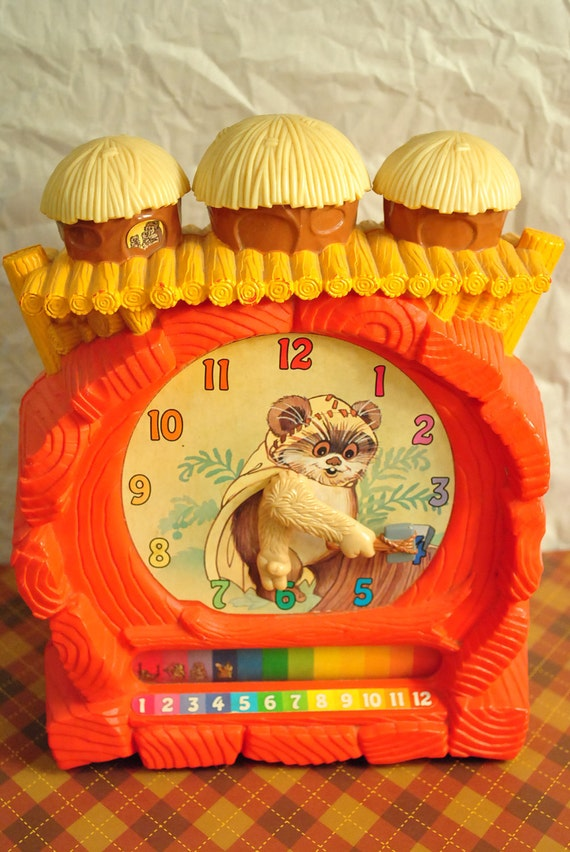 Star Wars Ewok Learning Clock Toy Wicket