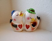 Vintage Ceramic Love Ducks Salt and Pepper Shakers