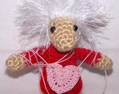 "RESERVED      Heartstrings Crocheted ""Mop-Top"" Critter"