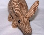 Crocheted adorable Aardvark, cute amigurumi animal