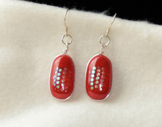 Dichroicn Earrings  123