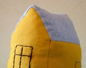 House Pillow, Yellow - toy for children and not just for them