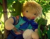 OOAK 16 inch Waldorf doll boy Simon, boys cloth doll human figure doll