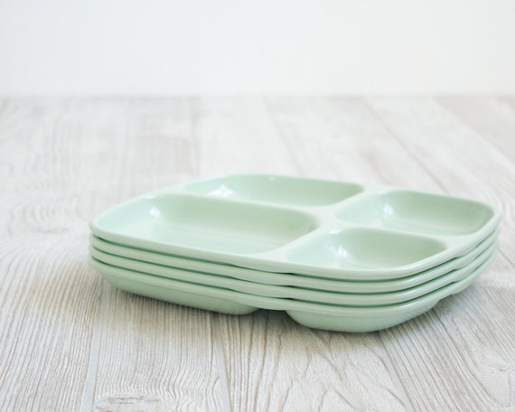 Mint Lunch Trays, Set of 4