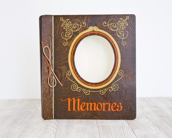 Memories Photo Album with Wood Cover