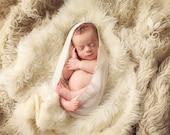 Tenderness Natural Wrap - Newborn Photo Prop - baby, photography prop, newborn photo prop, baby photo prop, cotton, wrap