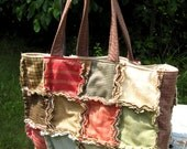 Back to school Oversized rag tote , with zippered pocket