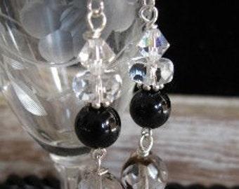 Favorite Black and Crystal Earrings