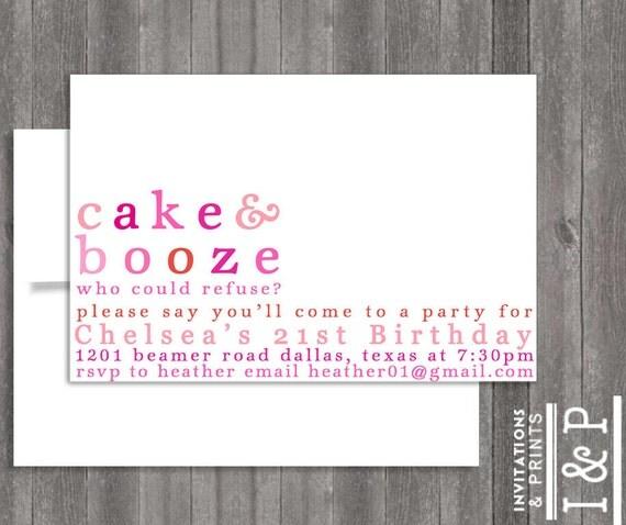 Items Similar To Girly Birthday Themed- 21ST Birthday