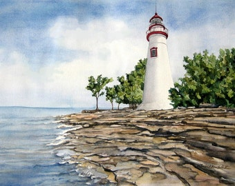 Marblehead Lighthouse on Lake Erie, Great Lakes