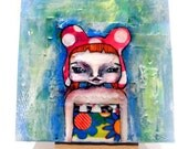 SALE  Amata Aimee,a small original acrylic painting