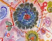 Desert Lichens Watercolor and Gouache 1    14x11