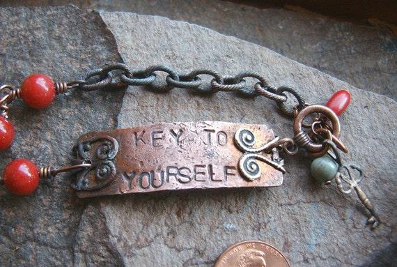 Key To Yourself Copper Bracelet