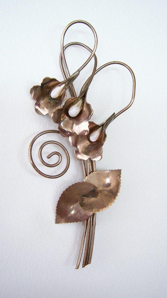 REDUCED: Copper Calla Pin