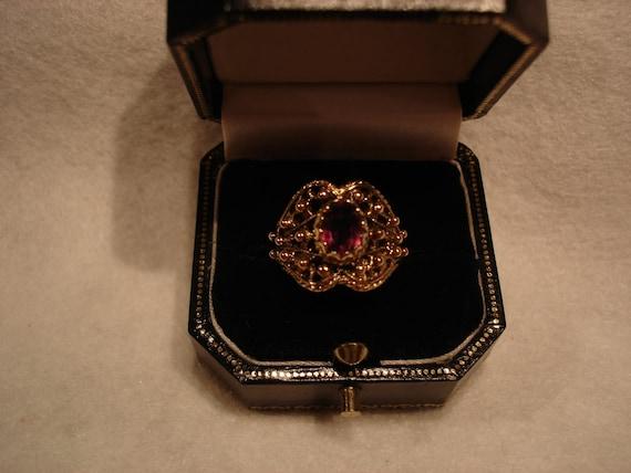 Vintage 1940's Amethyst Dress Ring