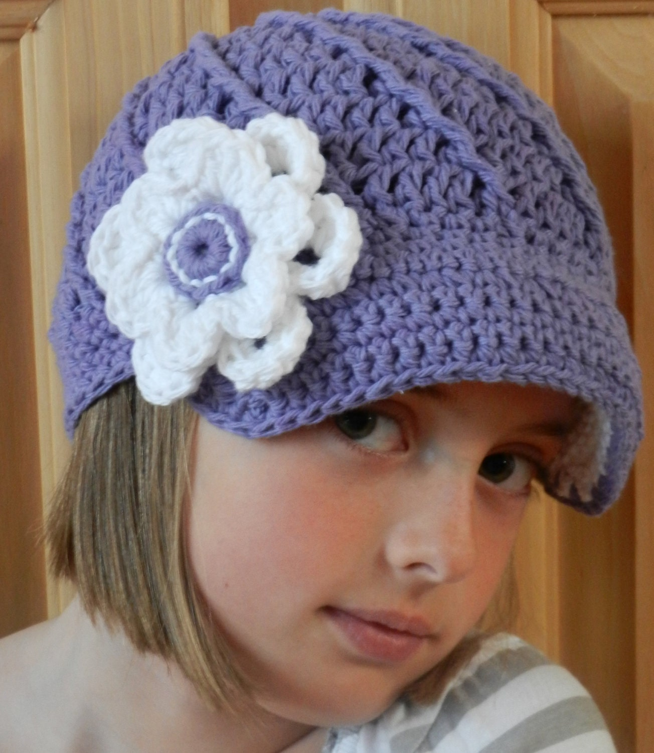 Crochet Hat Pattern Twisted Newsboy Crochet Hat by KismetCrochet
