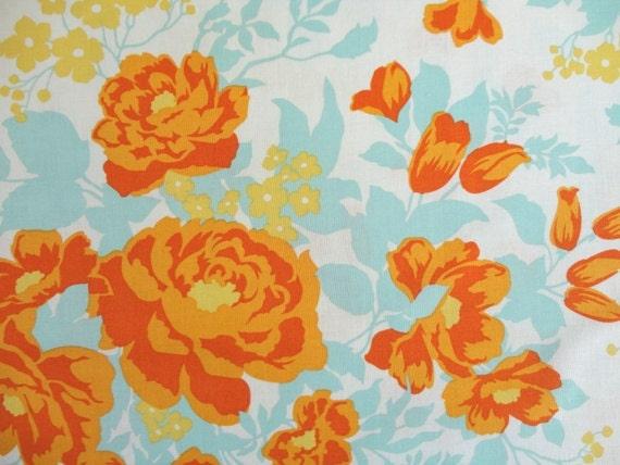 Joel Dewberry Fabric - 1 Fat Quarter of Heirloom Rose Bouquet in Amber