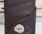 River Stone Button Mini Leather Journal