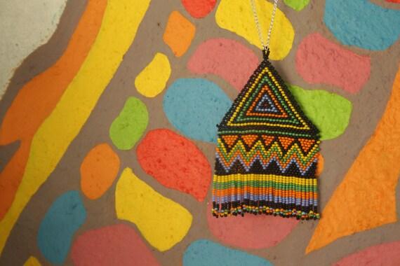 beaded pendant indian boho / beach / spring / long string pendant