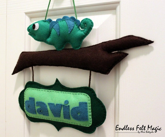 Items similar to felt personalized door name sign felt for Felt letter sign